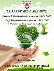 afiche taller de medio ambiente